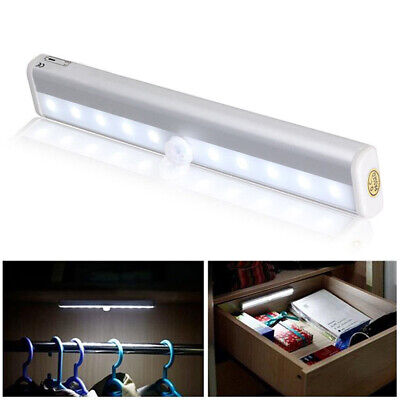 10 LED PIR Motion Sensor LED Night Light Battery Operated with Magnetic Strip 11