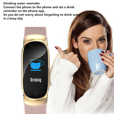 Waterproof Smart Bracelet IP67 Heart Rate Blood Pressure Fitness Tracker Watch 6