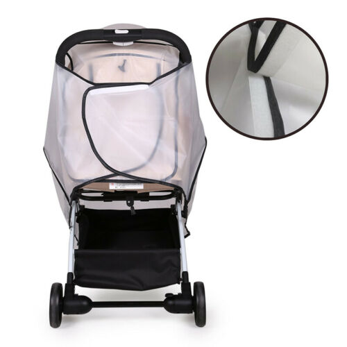 Universal Waterproof Zipper Plastic Non Toxic Rain Cover For Baby Stroller Clear 4