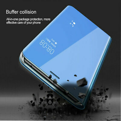 For Xiaomi Redmi Note 7 6 5 Pro 5A 4X Smart Mirror Leather Flip Stand Case Cover 10