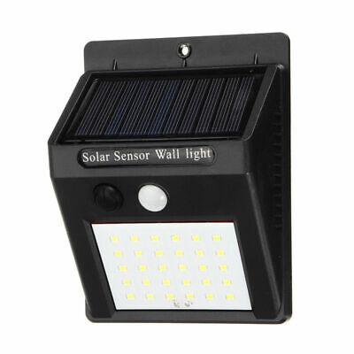 4x 30LED Solar Power Light PIR Motion Sensor Security Outdoor Garden Wall Lamp Z 6