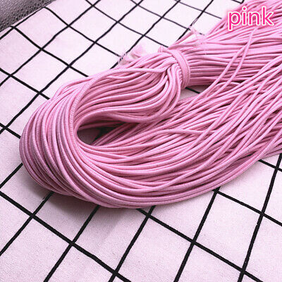 5yds 2/2.5mm High Elastic Round Elastic Band Rubber Band Elastic Cord Diy Sewing 7