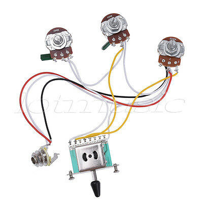 guitar wiring harness kit for strat parts 5 way toggle switch 500k guitar wiring harness kit for strat parts 5 way toggle switch 500k pots 2t1v 5pc 2