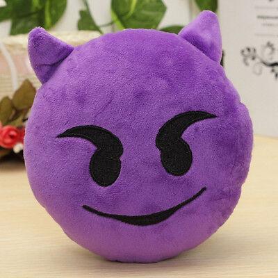 Round Cushion Soft Emoji Emotion Stuffed Plush Toy Pillow Doll Home Bed Decor rv