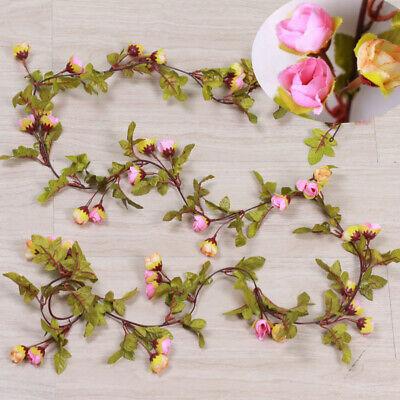 Cute 7Ft Artificial Fake Silk Rose Flower Hanging Garland Garden Wedding Decor 9