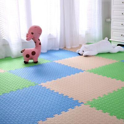 4 Tiles Home Yoga Gym Fitness Interlock EVA Foam Floor Mat Puzzle Baby Kids Play 10