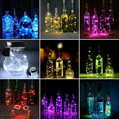 Cork Shaped 20 LED Night Light Starry Lights Wine Bottle Lamp For Wedding Party 2
