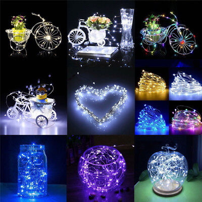 20/30/100 LED Battery Micro Rice Wire Copper Fairy String Lights Party white/rgb 4