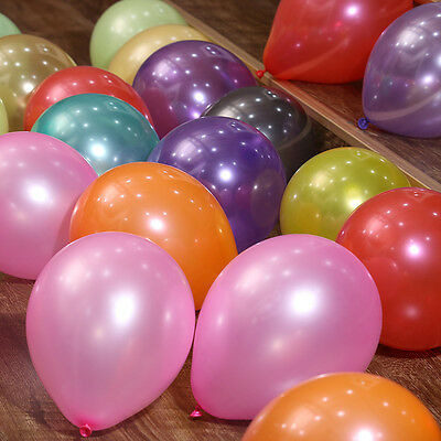 100pcs 10 inch Colorful Pearl Latex Balloon Celebration Party Wedding Birthday 2