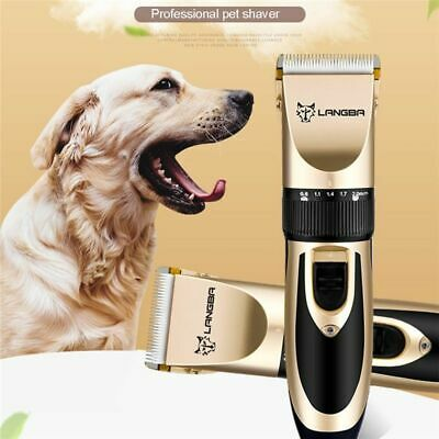 Dog Pet Hair Trimmer Professional Cat Shaver Grooming Clipper Kit Cordless Heavy 9