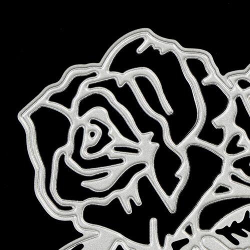 rose flower metal cutting dies stencil scrapbook album paper embossing craf S* 7