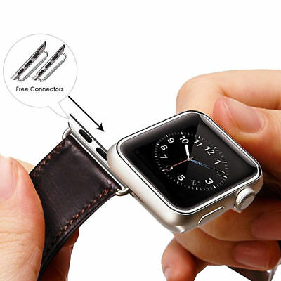Genuine Leather Strap Band for iWatch Apple Watch 3 2 1 38mm/40mm 42mm/44mm 2