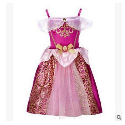 Belle Filles Robe de Princesse Déguisement Rapunzel  Cendrillon Sofia Cosplay 7
