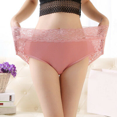 Women High-waisted Lace Floral Thong G-String Panties Briefs Sexy Underwear 1Pcs 8