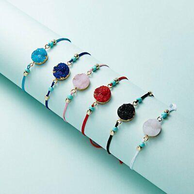 Handmade Make A Wish Natural Stone Braided Bracelet Bangle Women Jewelry Gift 3