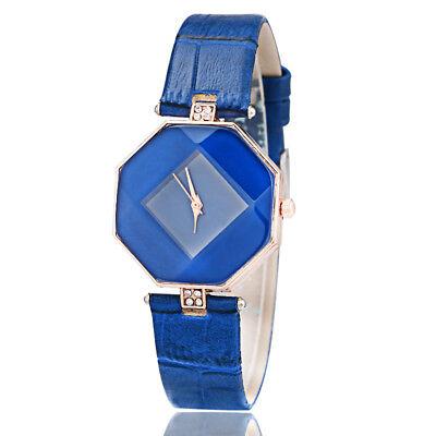 New Fashion Women 's Leather Band Analog Quartz Diamond Wrist Watch Watches 7