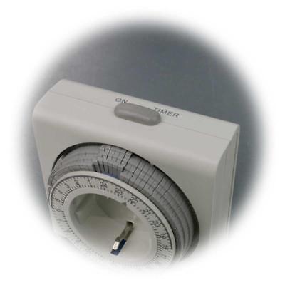 Zeitschaltuhr kompakt, analog, Schaltuhr, Zeituhr mechanisch 3680W Steckdose 24h 4