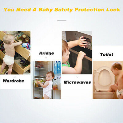 10pcs Baby Safety Protection Lock Kids Baby Anti-Clip Door Fridge Drawer Latches 11