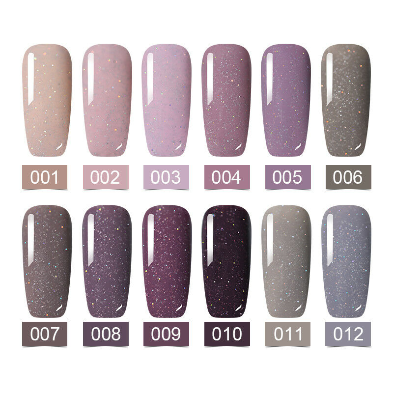 Multi-Colors LEMOOC Thermal Gel Polish Nail Art Soak off Magnetic Gel UV LED 8ml 4