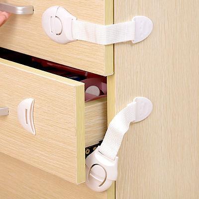 10 PCS Safety Child Infant Baby Kids Drawer Door Cabinet Cupboard Toddler Locks 6