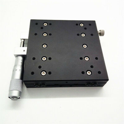 X-Axis Manual Trimming Platform Linear Stage 60mm 0.01mm Sliding Table Bearing 5
