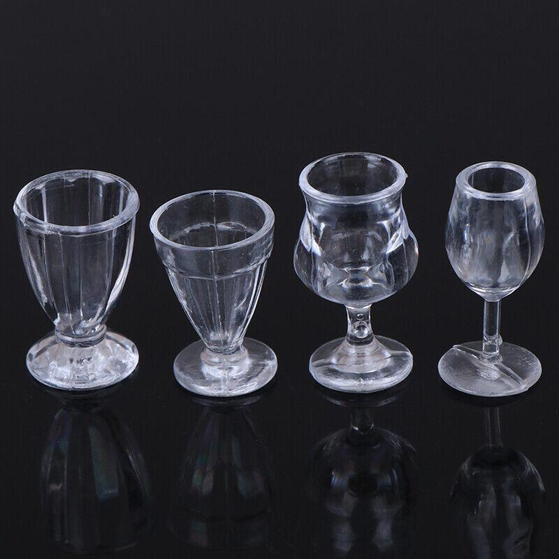 17Pcs/Set 1:12 Dollhouse Miniature Transparent Tableware DIY Kitchenware TEB 10