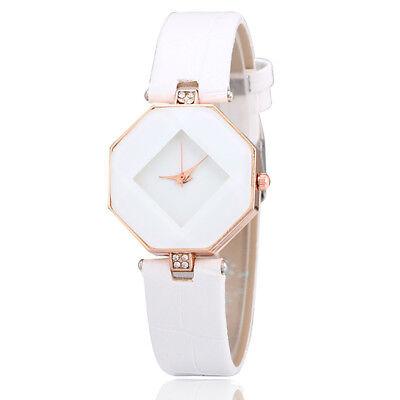 New Fashion Women 's Leather Band Analog Quartz Diamond Wrist Watch Watches 9