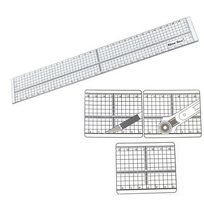 30cm Ruler Craft Patchwork Sewing Template Grid Cutting Transparent