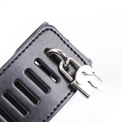 PU-Lederhalsband an Handfesseln Handgelenksmanschetten Slave-Gurtzeug-Handschell 6