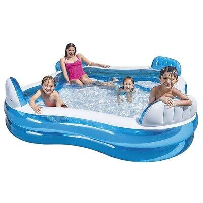Intex piscina gonfiabile 4 sedili porta bevande nuoto famiglia 56475 Nuovo Rotex 2