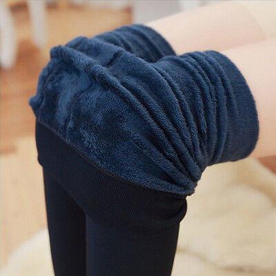 Pantaloni da donna a vita alta elasticizzati in caldo pile con fodera in pile PB 10
