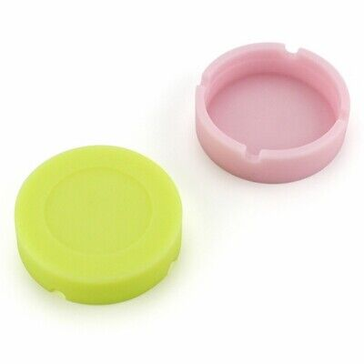 Glow in the Dark Silicone Round Ashtray Heat Resistant Camouflage Container Mini 8