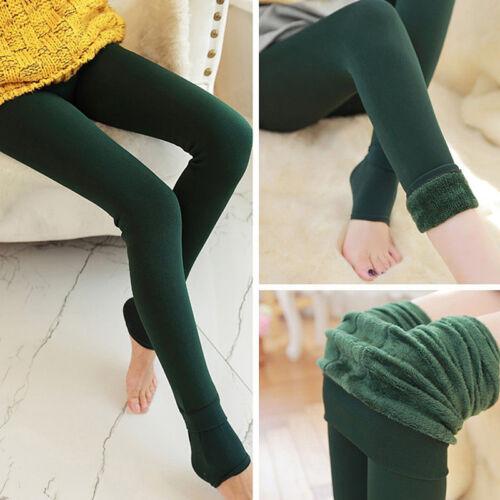 Women Winter Thermal Thick Fleece Skinny Slim Fit Leggings Stretch Pants Trouser 5