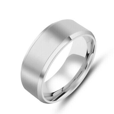 Titanium Stainless Steel 8mm Brushed Finish Men Women Wedding Band Spinner Ring 7