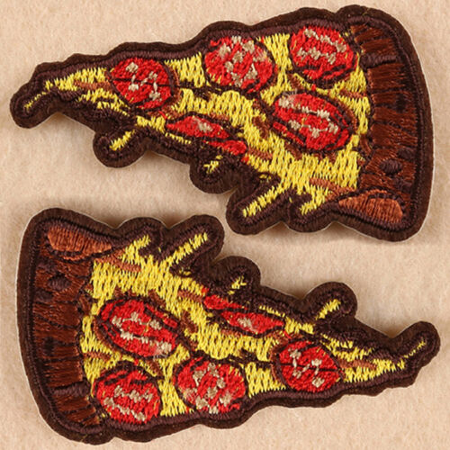 """Movies Iron On Embroidered Applique//Food,Entertainment Show /""""PIZZA FUN/"""""""