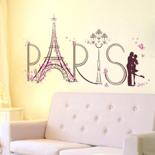 Paris Eiffel Tower Romantic Wall Stickers Vinyl Decal Home