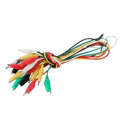 Crocodile Test Double End Clamp Wire For Testing Roach Clip Jumper Cable 2