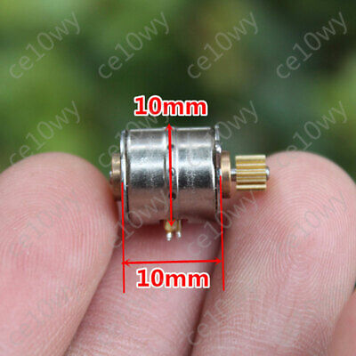 2x 10mm Stepper Motor 2 phase 4 wire Mini Electric Motor with 0.25M 13T Gear DIY 2