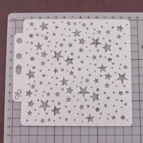 Reusable stars Stencil Airbrush Art DIY Home Decor Scrapbooking Album CraftBLUS