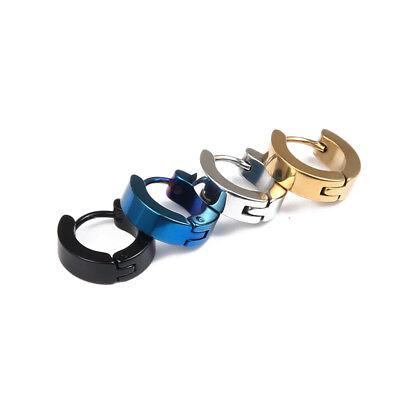 1PC 10mm Men Women 316 Surgical Titanium Steel Punk Earrings Ear Stud Piercing 3