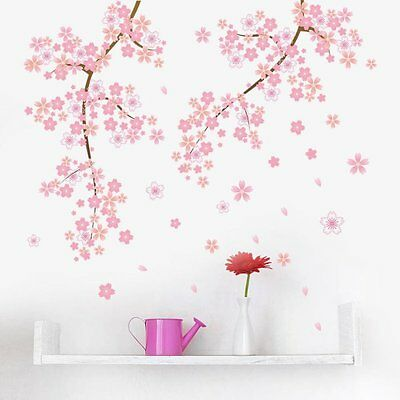 Wandtattoo Madchen Baum Ast Pink Rosa Blumen Sticker Kinderzimmer