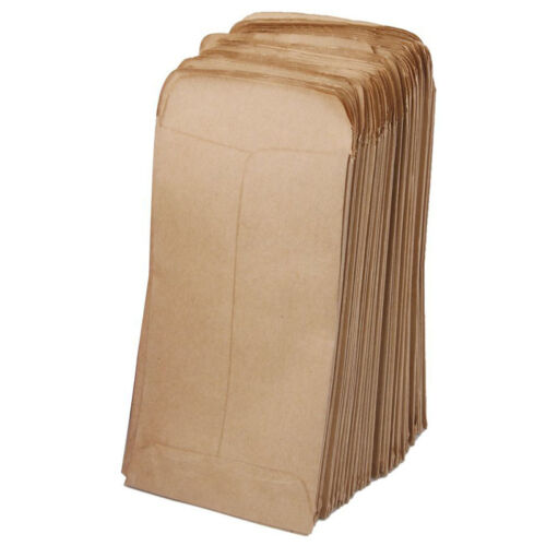100pcs Small Kraft Paper Gift Bags Vintage Wedding Treat Brown Paper Bag 7