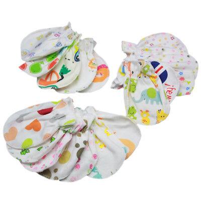 5 Pairs Soft Cotton Baby Anti-scratch Gloves Infant Newborn Handguard Mittens 3