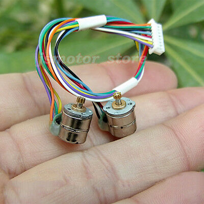 10PCS 2-Phase 4-Wire Mini 8mm Stepper Motor Stepping Motor Metal Copper Gear DIY 5