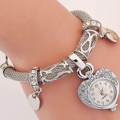 New Bracelet Wrist Watch for woman silver gold bangle band crystal lady Fashion