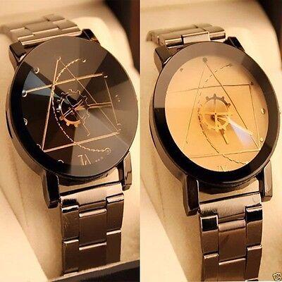 Fashion Luxury Men Women Compass Watch Stainless Steel Quartz Analog Wrist Watch 2