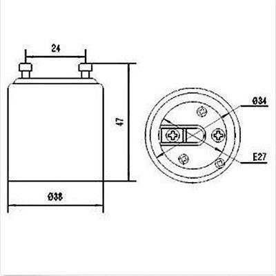 2x GU24 to E26 E27 Adapter for Lighting-Converts your Pin Base Fixture Standard