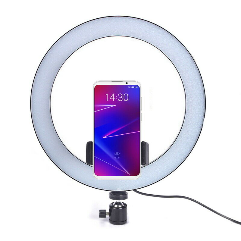"10"" Dimmable 5500K LED Ring Light Kit + Tripod for Phone Camera Selfie LI 2"