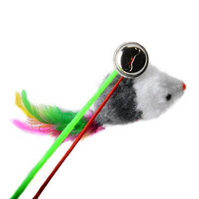 Couleur Aléatoire Nouveau Jouet drôle pour chat Fausse Souris sur une Tige 7