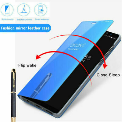 For Xiaomi Redmi Note 7 6 5 Pro 5A 4X Smart Mirror Leather Flip Stand Case Cover 4